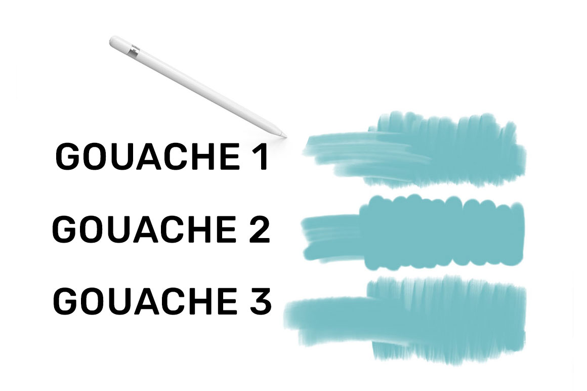 Gouache Procreate Brush Pack