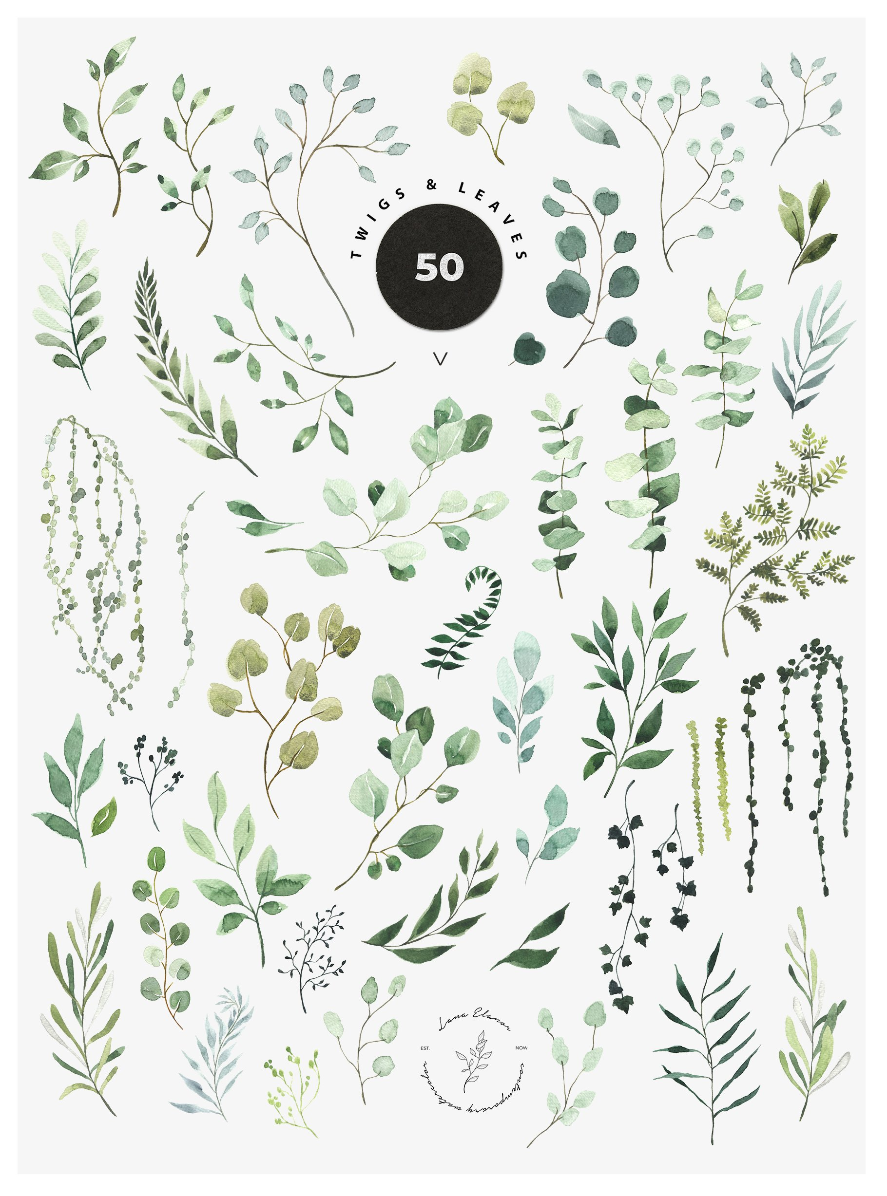 Just Green - Watercolor Collection