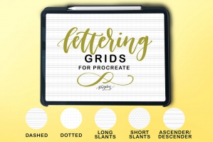 Lettering Grids for Procreate