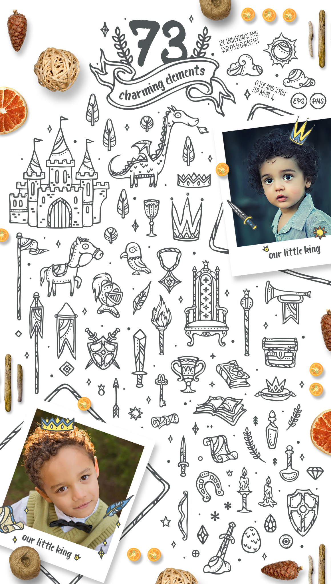 Little King - Little Prince Kids & Boys Clipart
