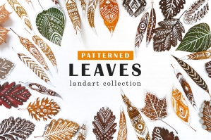 Patterned Leaves - Land Art Collection