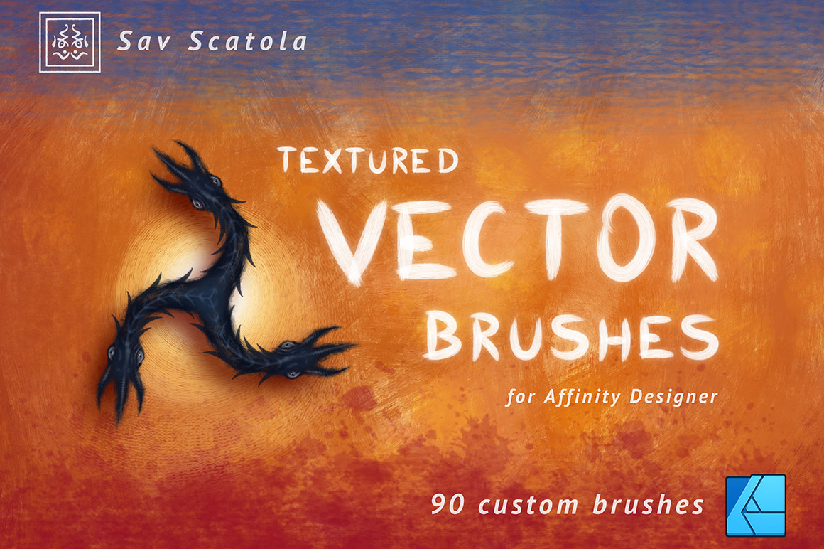 Textured Vector Brushes for Affinity Designer - Design Cuts