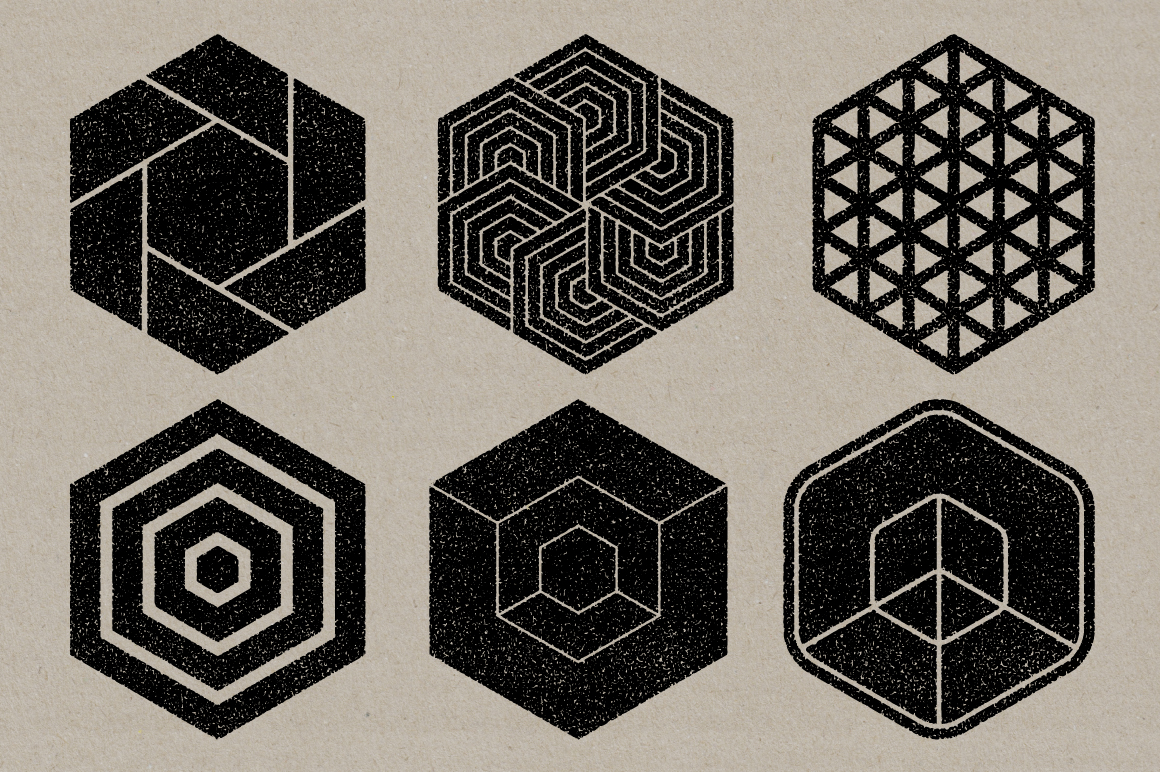 Vector Shape Stamps 02