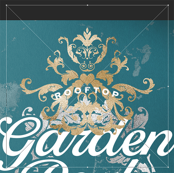 Rooftop Garden Party Flyer Design