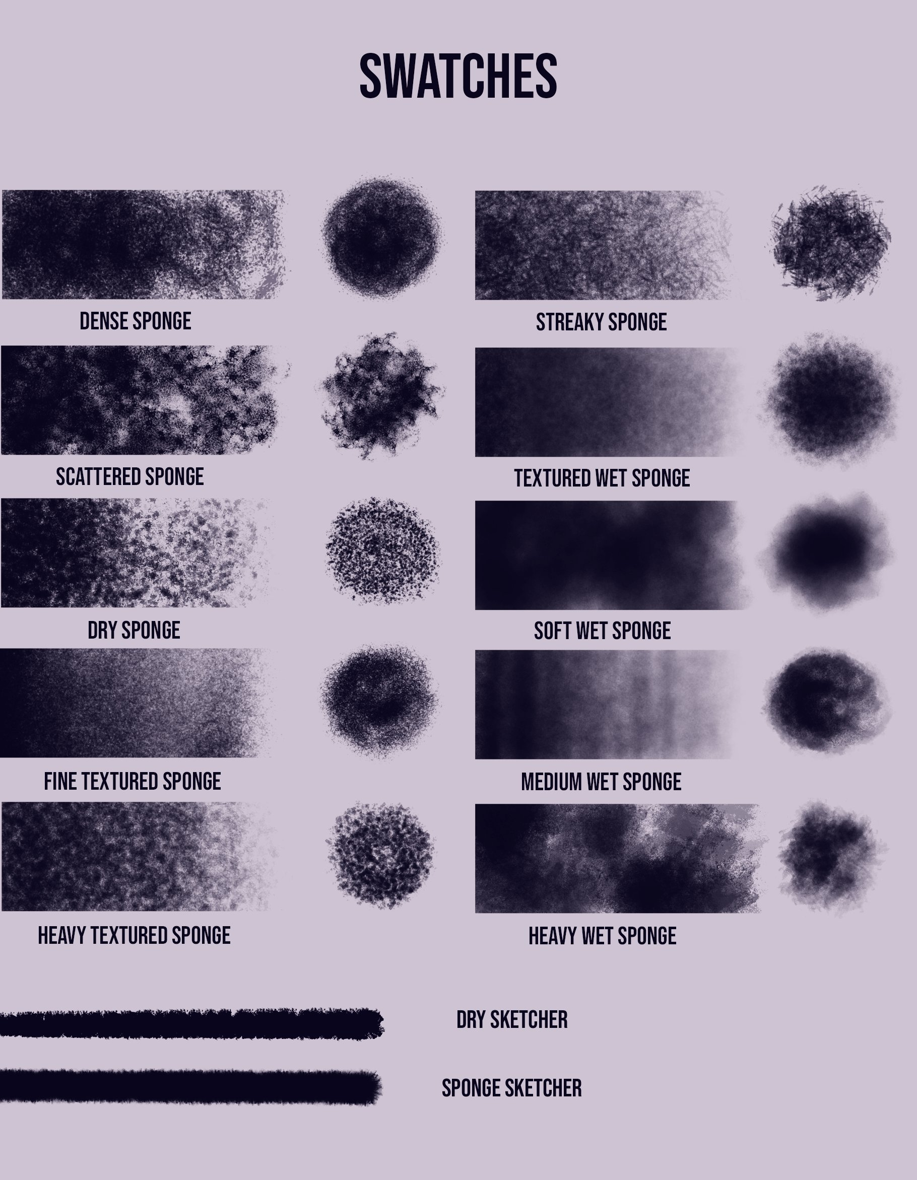 Procreate Sponge Texture Brushes