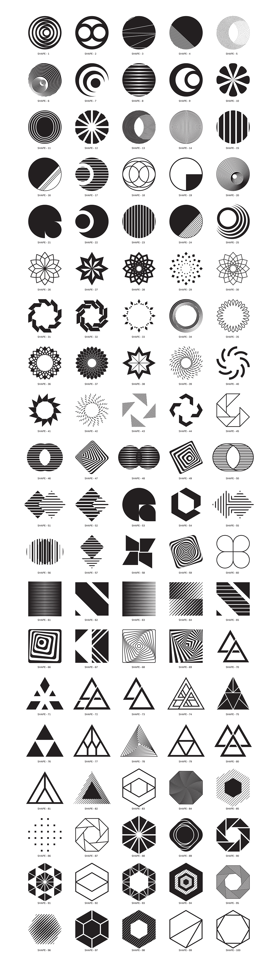 100 Geometric Shapes - Part 2