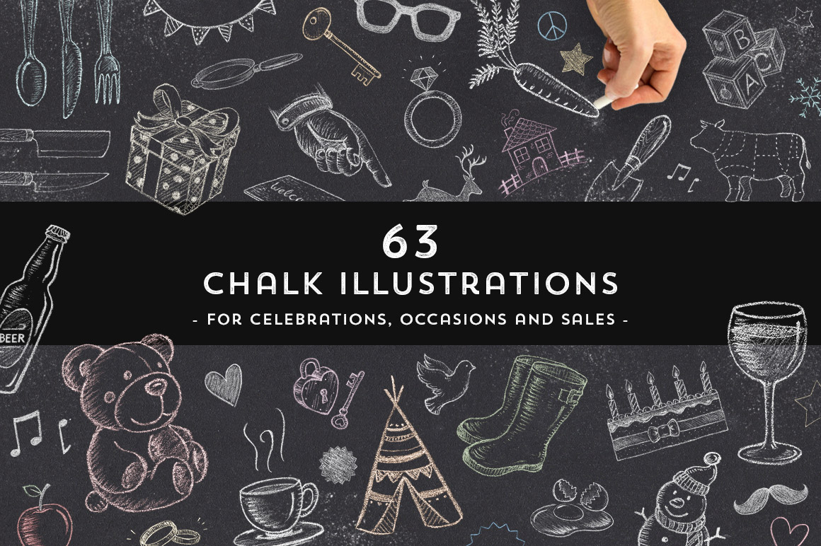 63 Chalk Illustrations