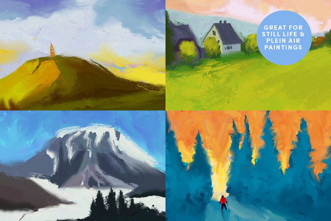 Gouache Set - Procreate Brushes