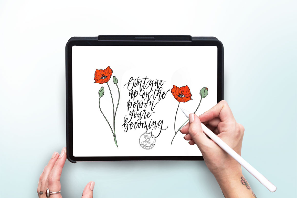 iPad Pro Mockup with Color Customization