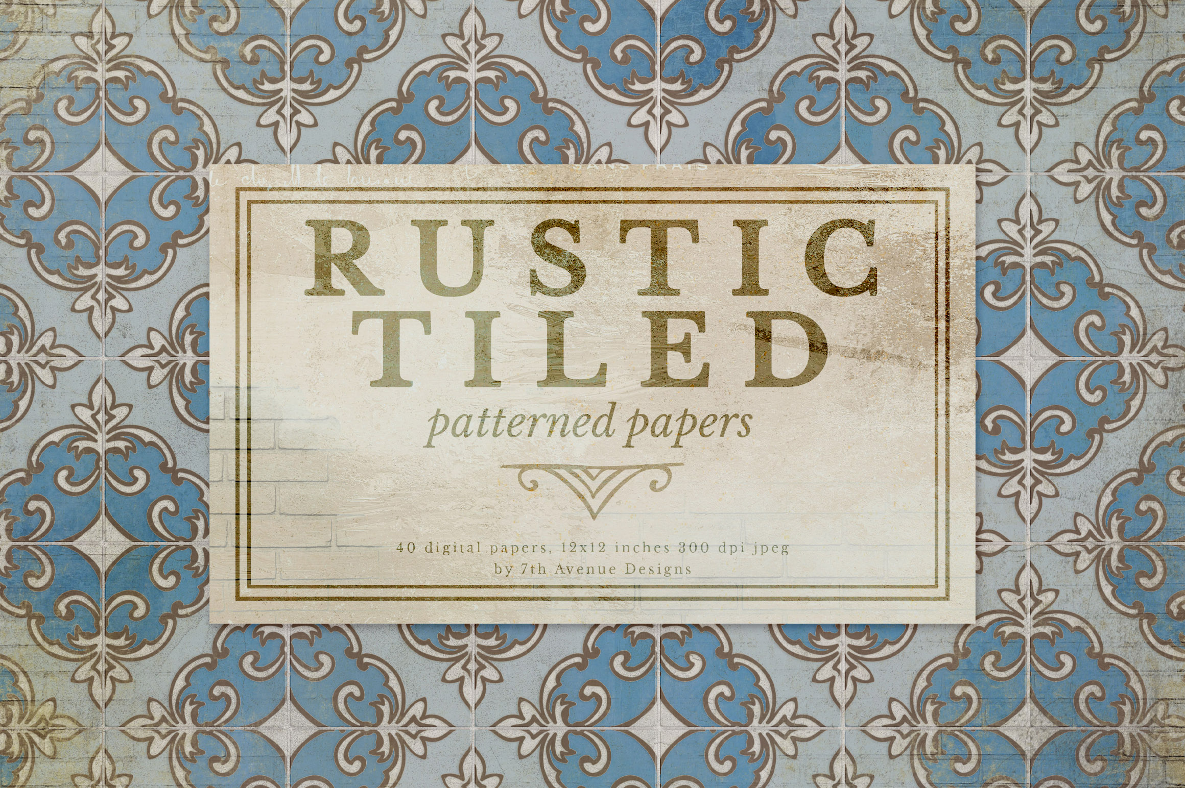 Rustic Tiled Papers