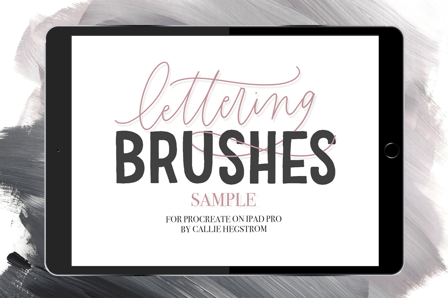 Free: 12 iPad Brushes For Procreate Samplee