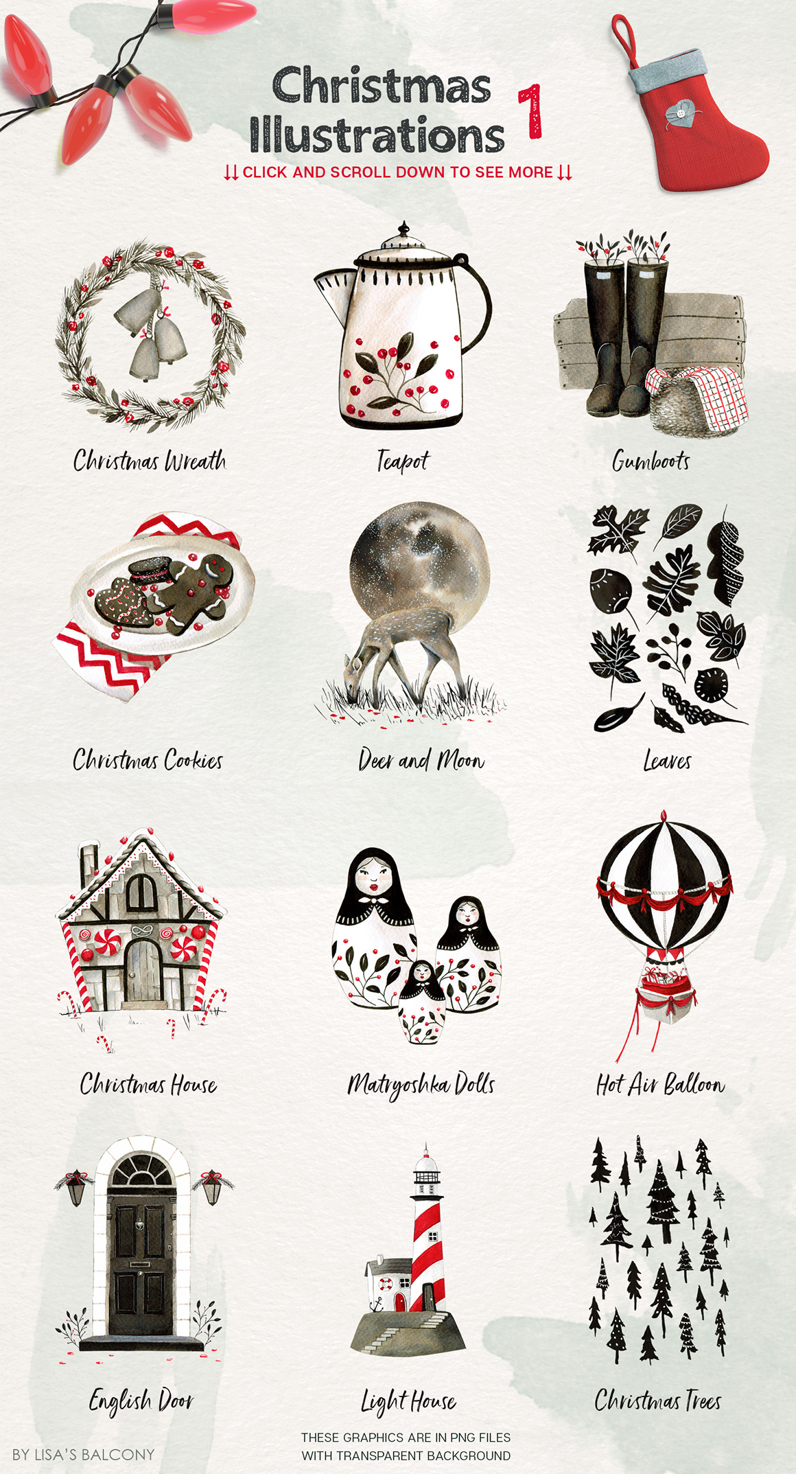 Christmas Illustrations.Christmas Illustrations Inktober Collection Design Cuts