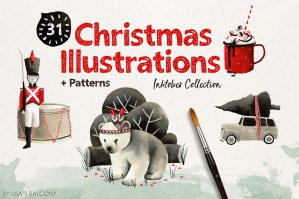 Christmas Illustrations - Inktober Collection