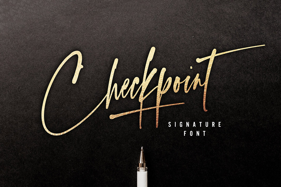 Checkpoint Signature Font