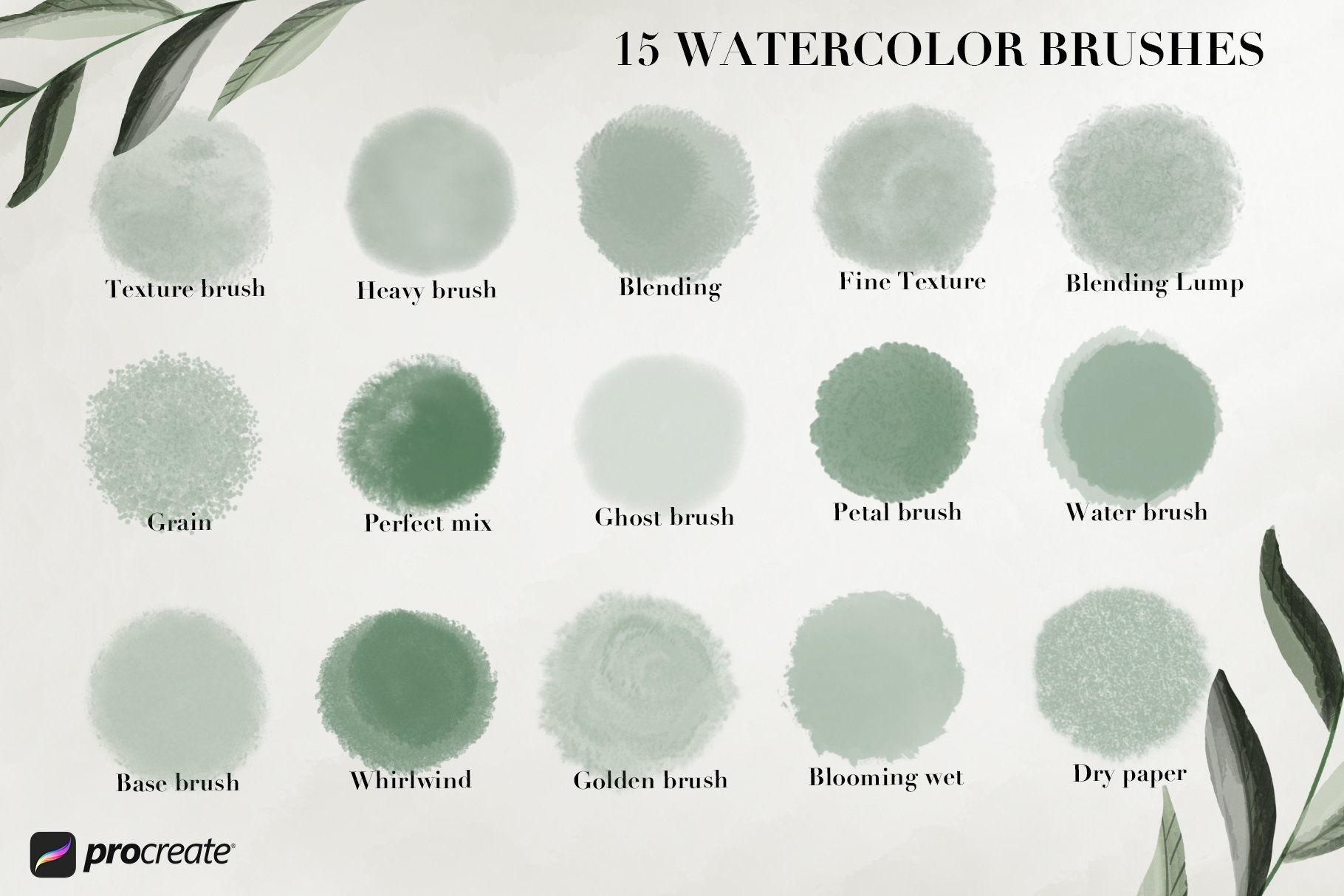 Studio Collection - 80 Procreate Brushes