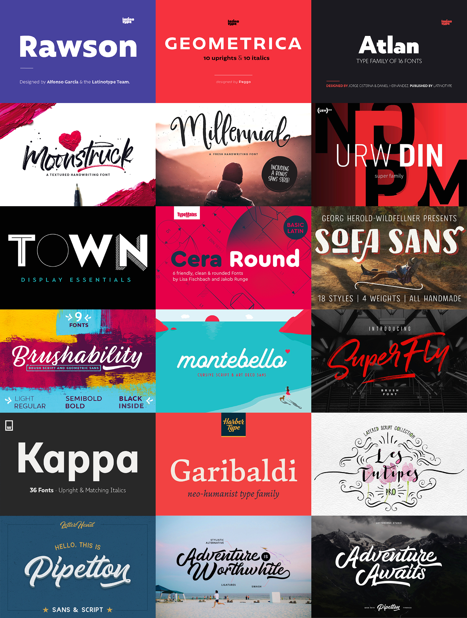 The Essential, Popular Fonts Collection