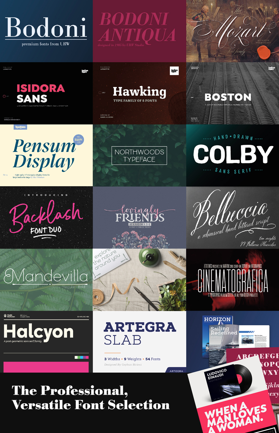 The October Fonts Bundle 2018