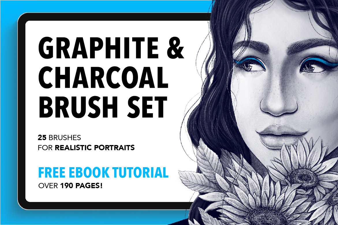 25 Graphite and Charcoal Procreate Brushes
