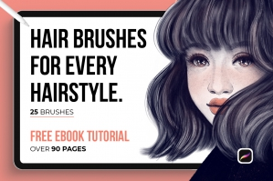 25 Hair Procreate Brushes for Every Hairstyle