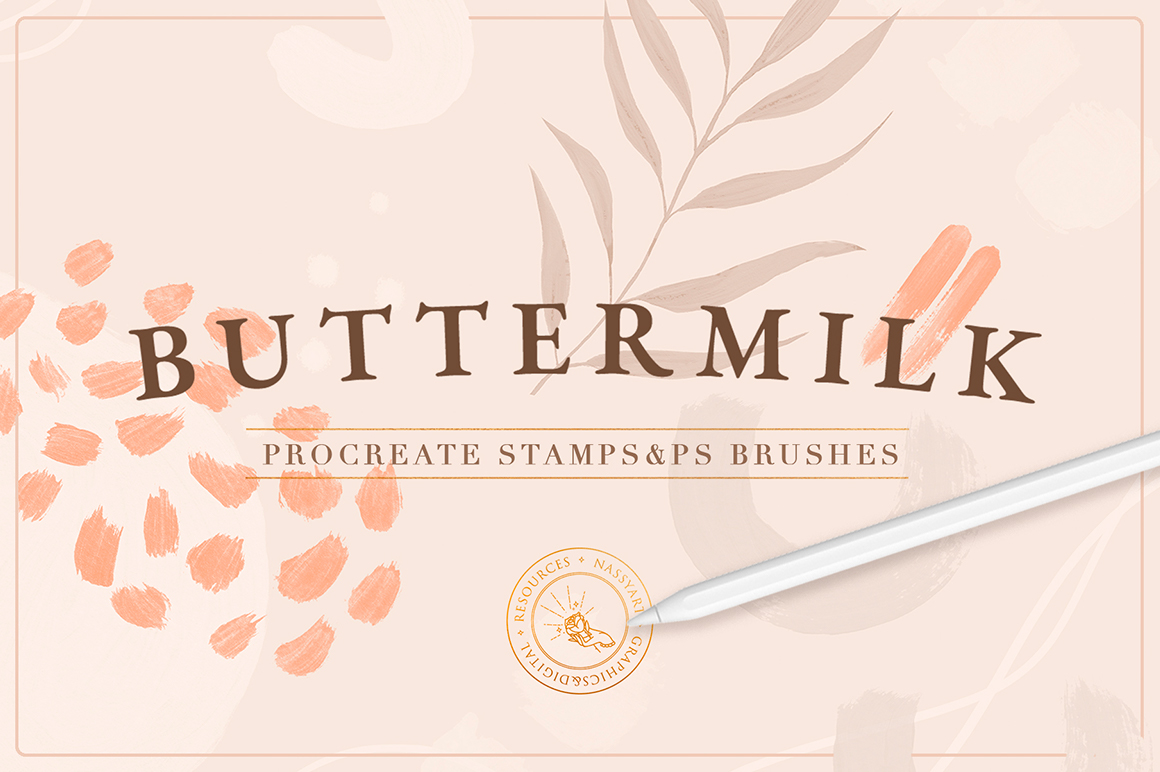 90 Procreate And Photoshop Stamp Brushes
