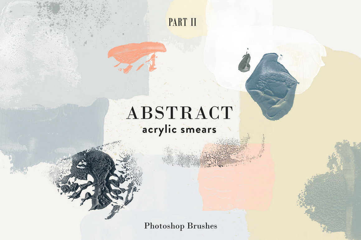 Abstract Acrylic Smears - Photoshop Brushes