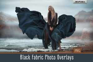 Black Fabric Photo Overlays