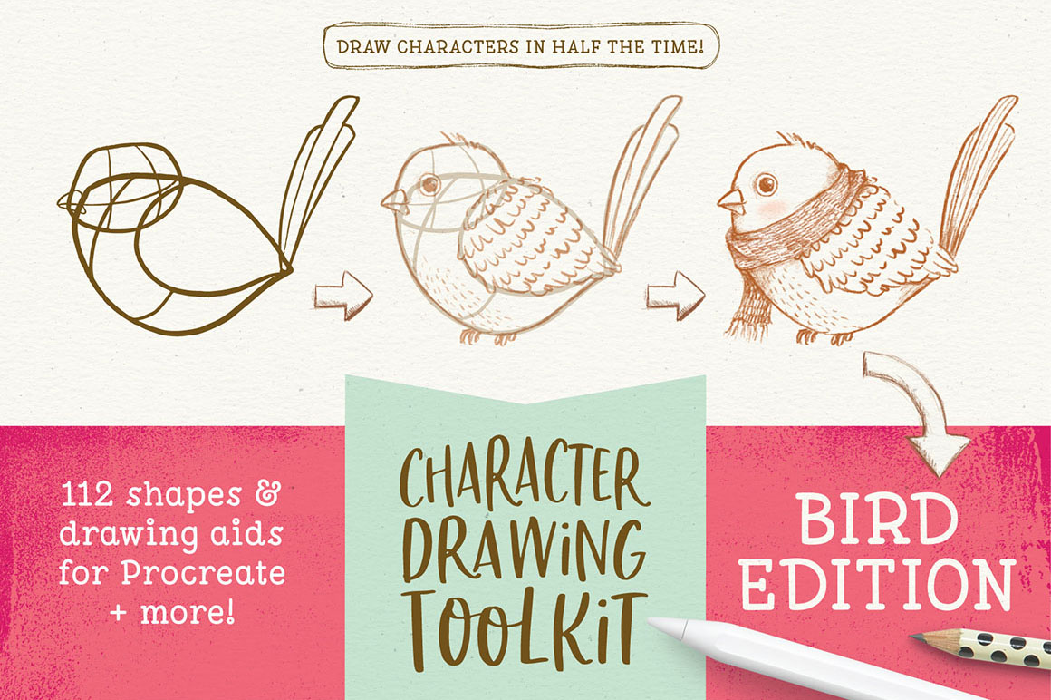 Character Drawing Toolkit - Bird Edition