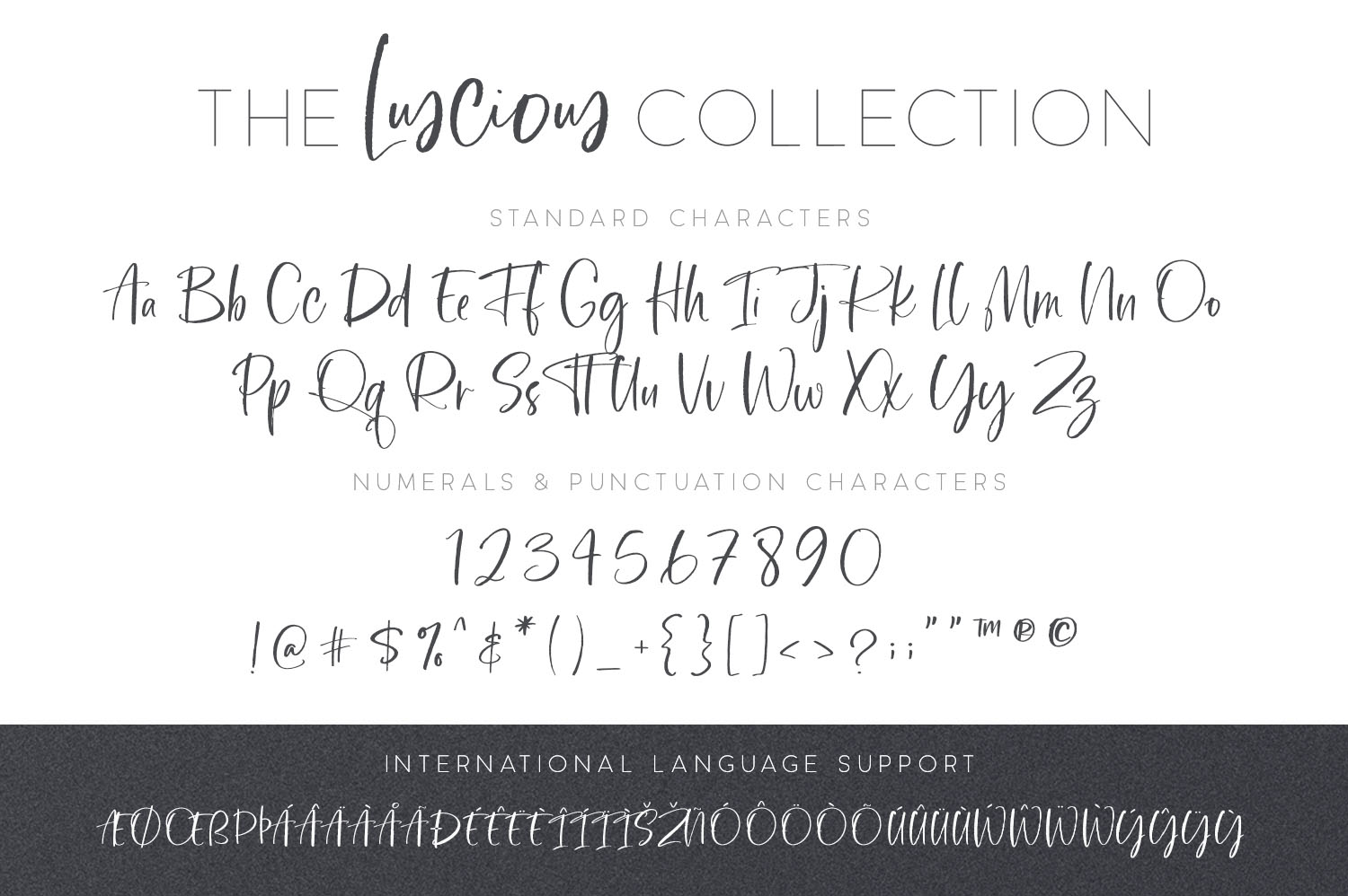The Luscious Font Collection