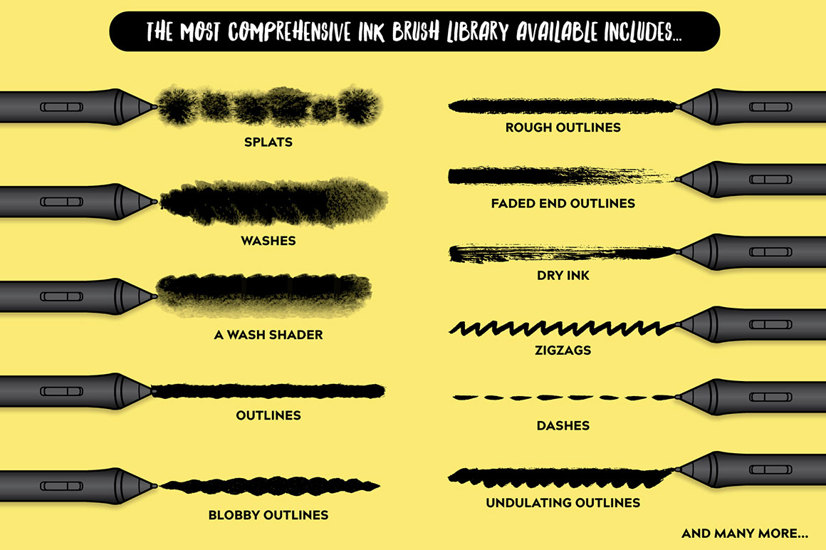 The Affinity Inkwell Brushes