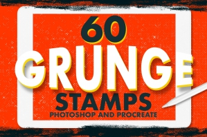 60 Grunge Stamps
