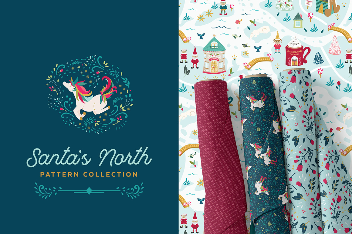 Santa's North Christmas Pattern Collection