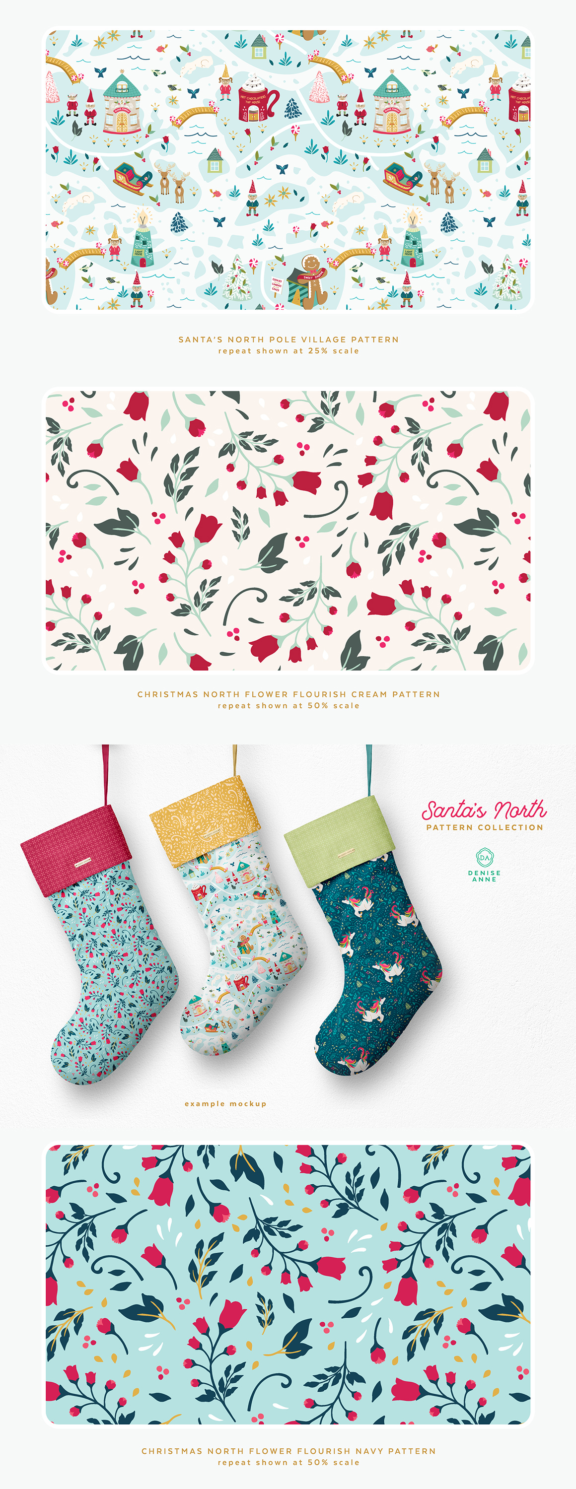 Christmas Pattern.Santa S North Christmas Pattern Collection Design Cuts
