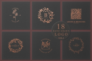18 Hand Drawn Logo Collection Vol.3