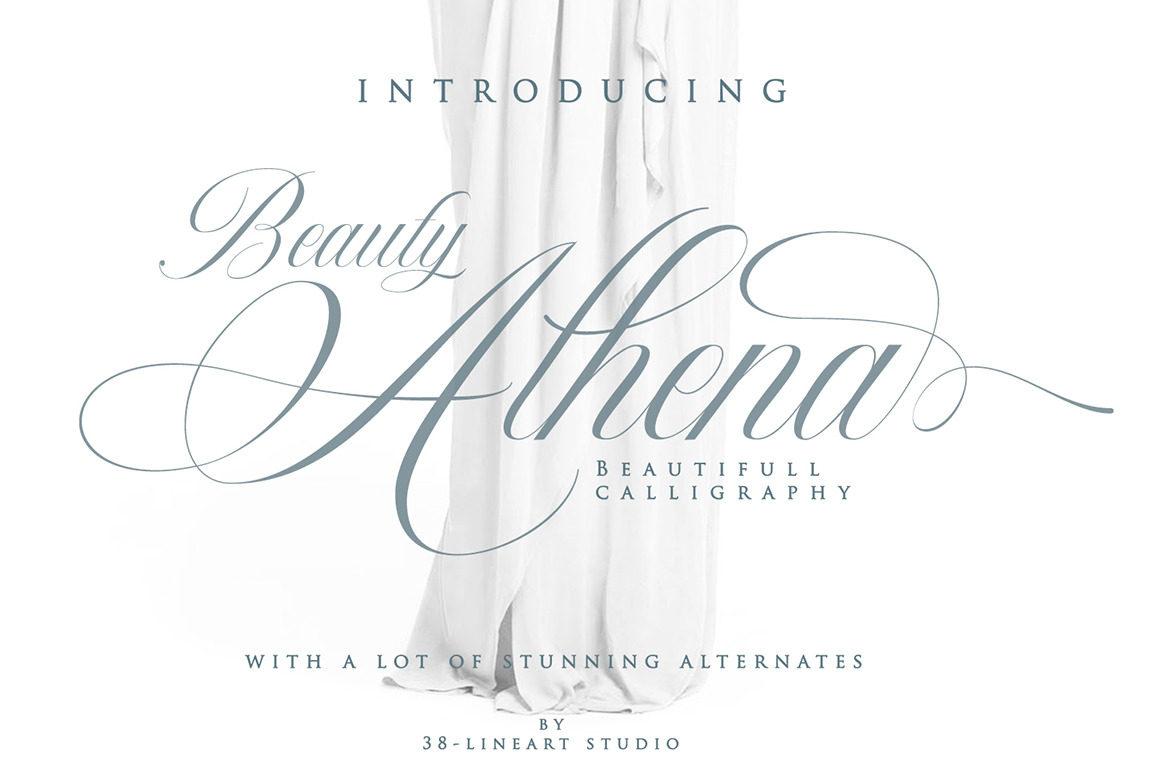 Beauty Athena - Beautiful Calligraphy Font