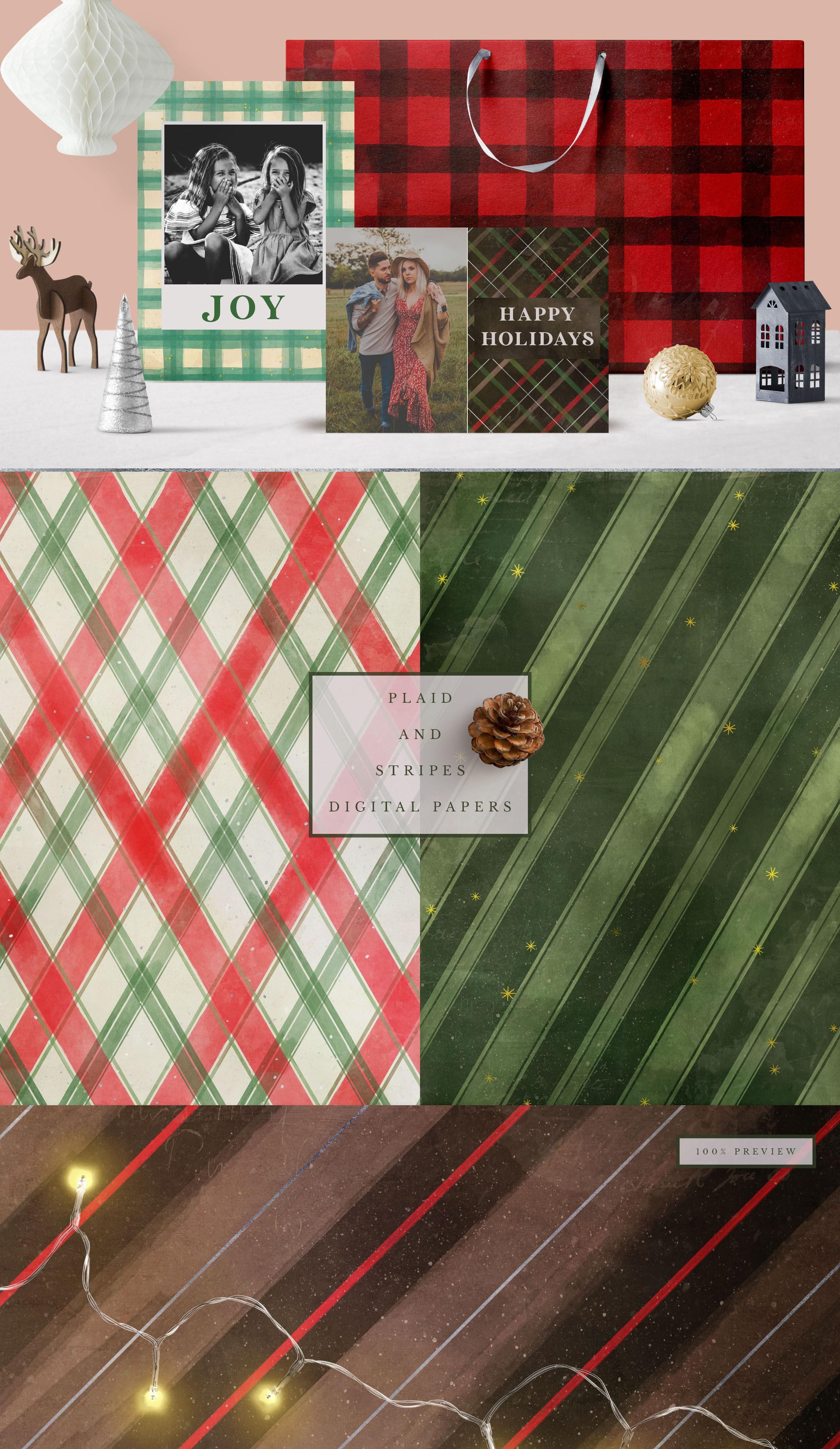 Classic Christmas Digital Papers