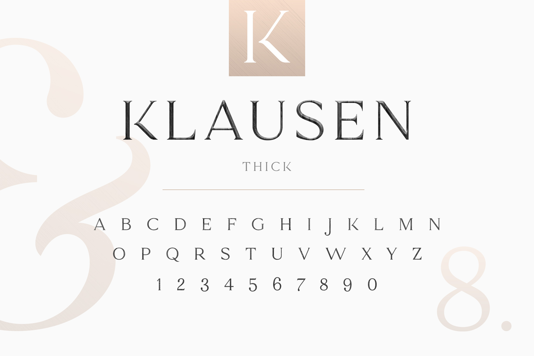 Klausen - Stylish All Caps Serif