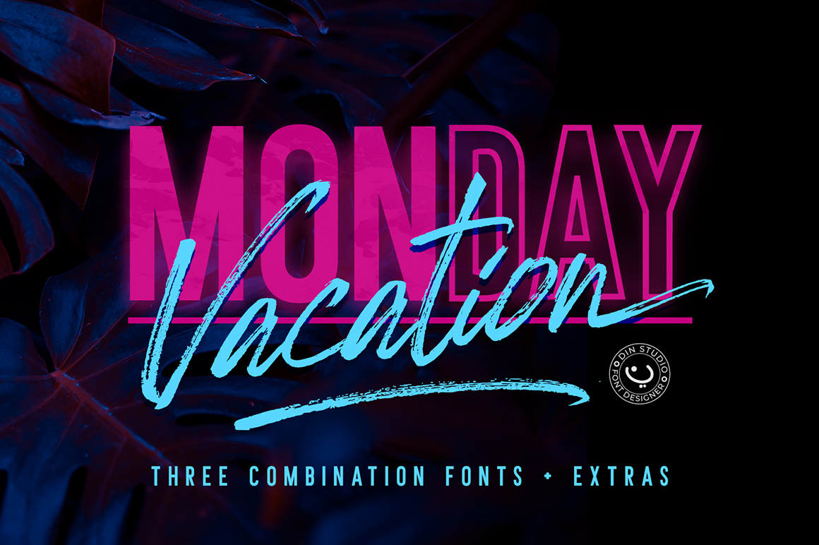 Monday Vacation Font Duo