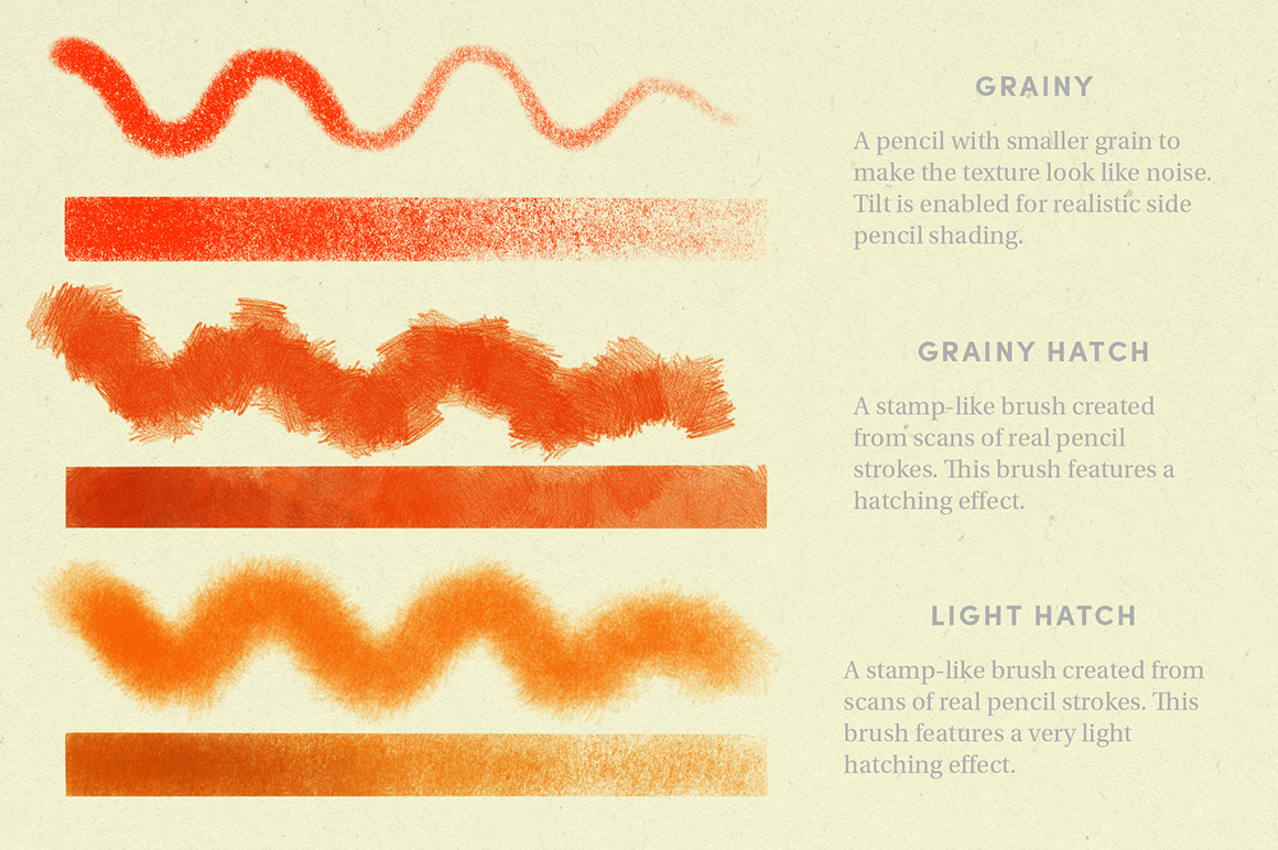 Pencil Pack – Procreate Brushes
