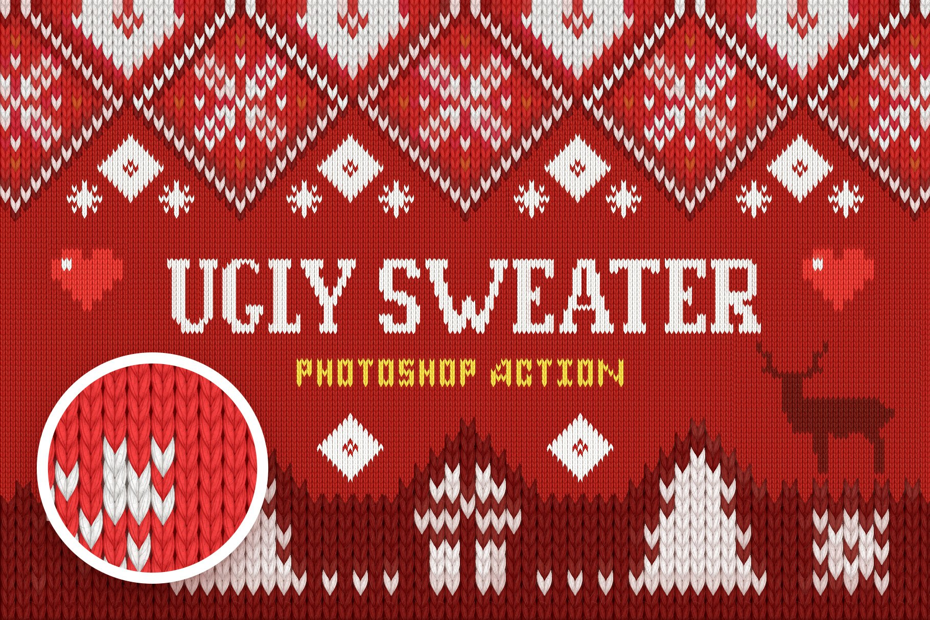 Ugly Christmas Sweater Action Design Cuts