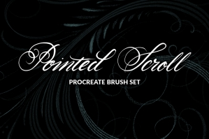 Pointed Scroll Procreate Brush Set