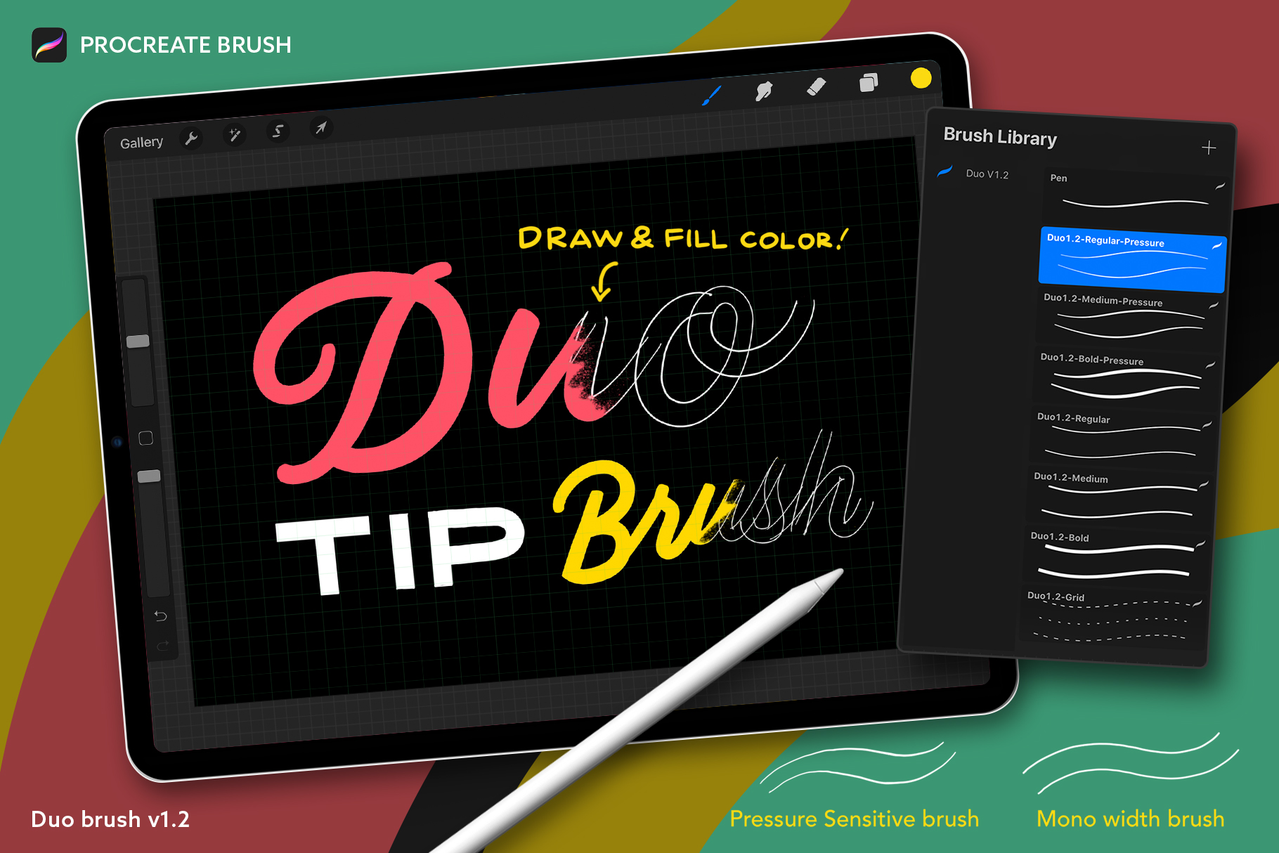 Procreate Duo Lettering Brush Pack (V1.2)