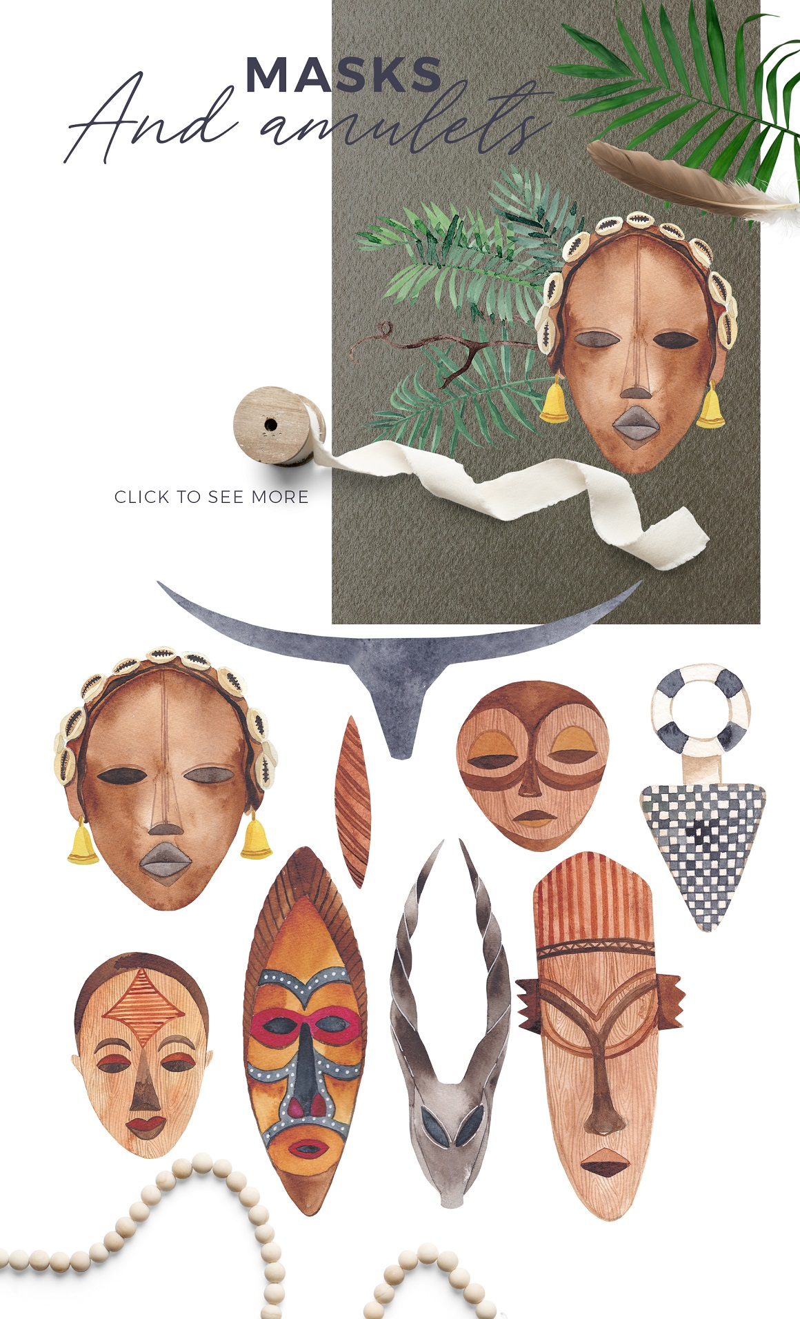 Africana - Watercolor Scene Creator