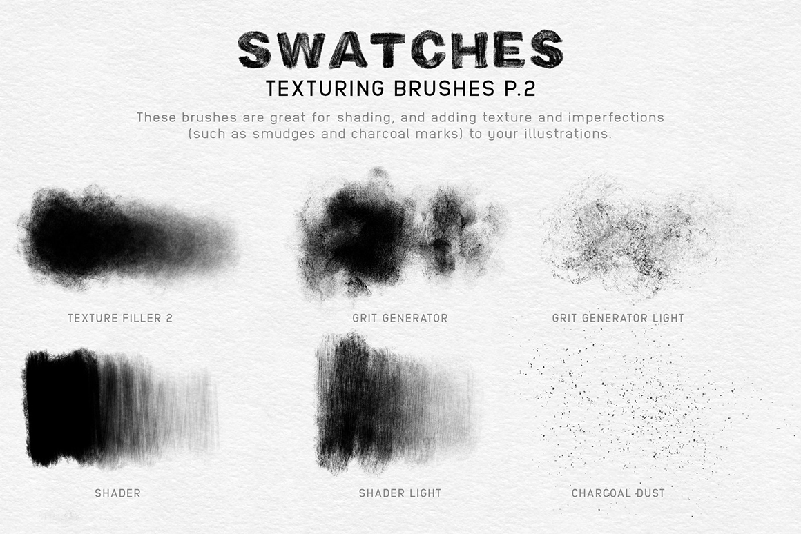 Charcoal Procreate Brushes