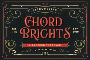 Chord Brights - A Layered Typeface