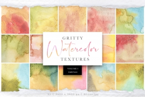 Gritty Watercolor Textures Vol 3 - Fairytale