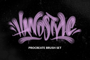 Handstyle Graffiti Procreate Brush Set