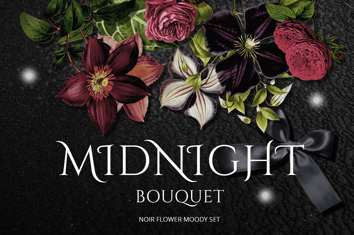 Midnight Bouquet - Moody Floral Set