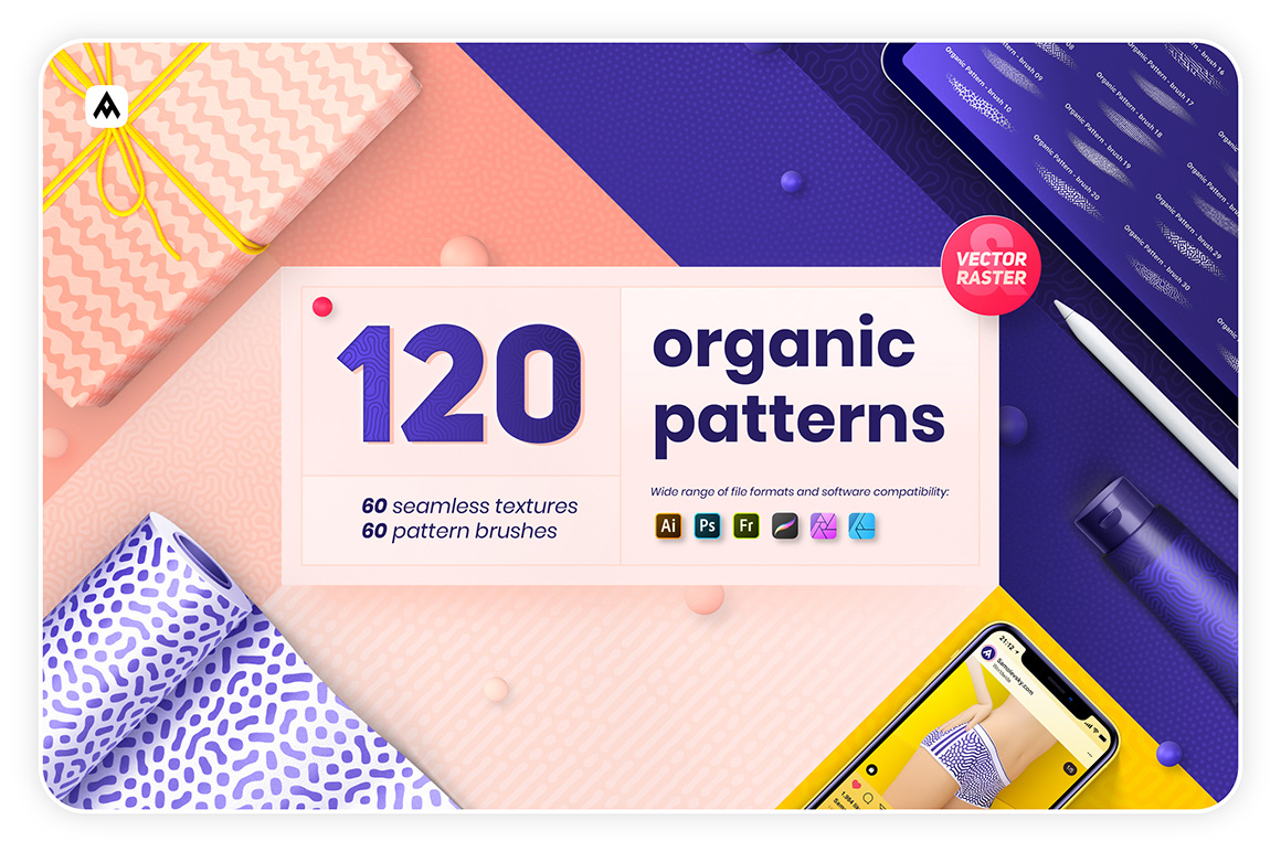 Organic Patterns - 120 Textures and Brushes Bundle