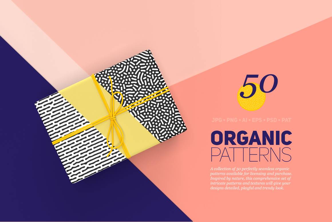 Organic Patterns - 50 Trendy Textures