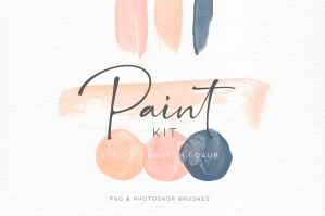 Paint Swatch and Daub Brush Kit